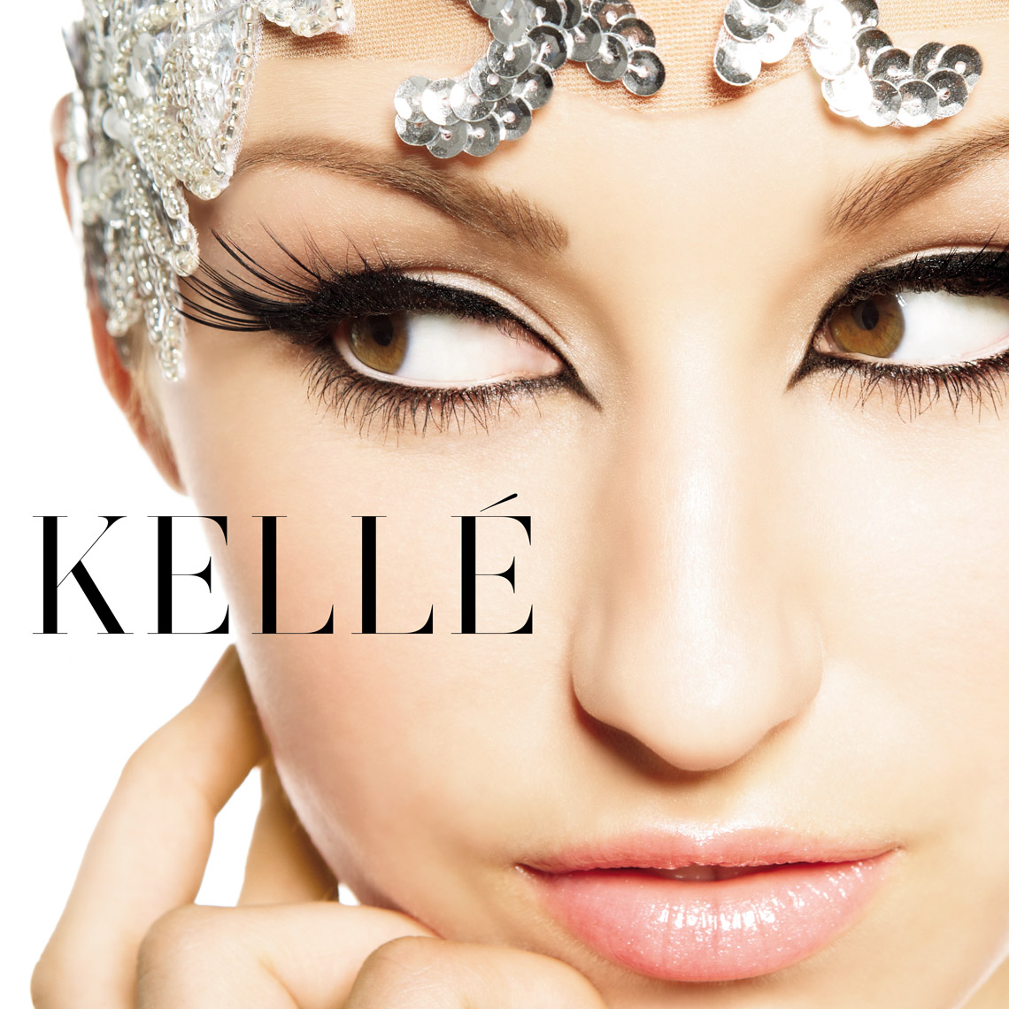 Kelle Cover Beauty Eye Makeup lashes Sequins