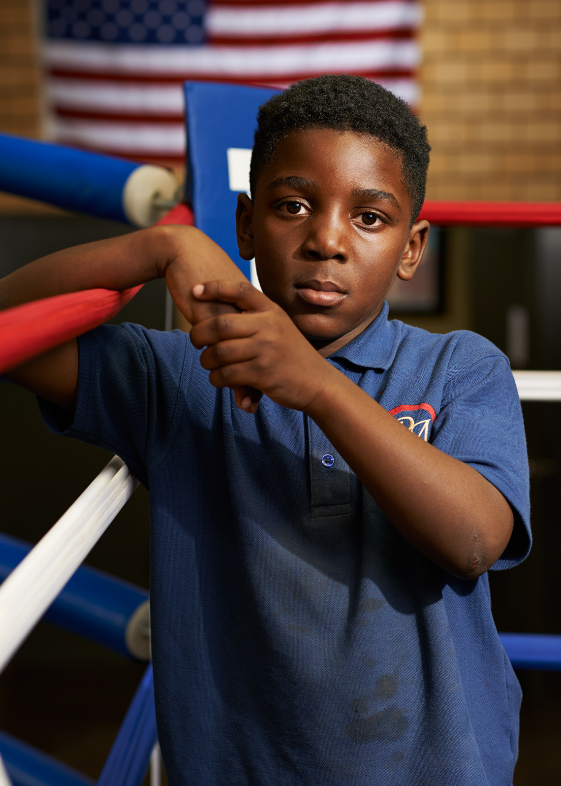 Soulful Boy in Boxing ring