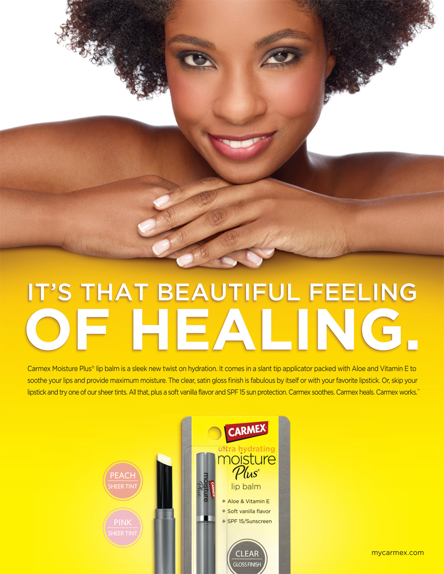 Carmex Black Woman Beautiful Skin manicure Beauty