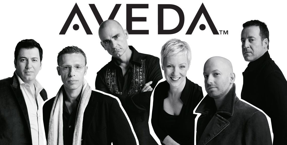 Aveda Top Colorists and Stylists black and white